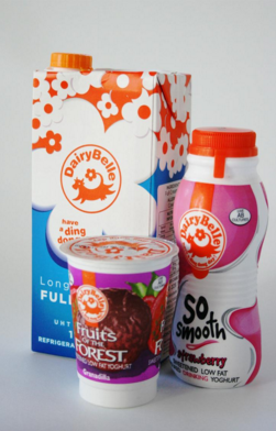 Dairy product packaging for milk and yogurt